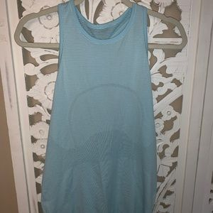 Lululemon Blue Open Back Tank Size 8